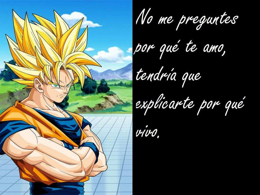 Frases de amor estilo Dragon Ball Z